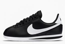 Nike Cortez de piel Negras y Blancas