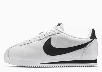 Nike Cortez de piel Blancas y Negras